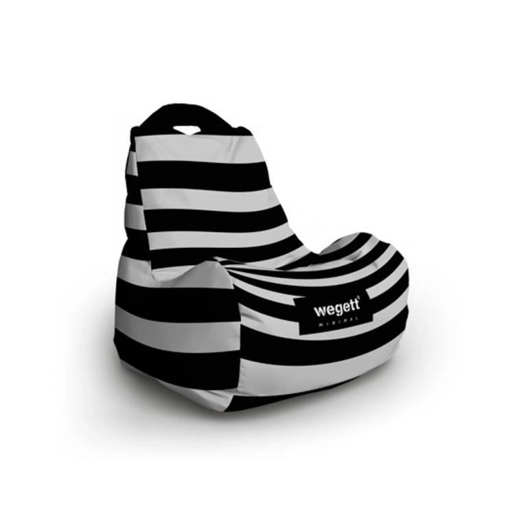Sedací vak Classic Minimal Zebra | Wegett