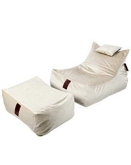 Sedací vak SET Lounge XXL Luxury Pearl | Wegett