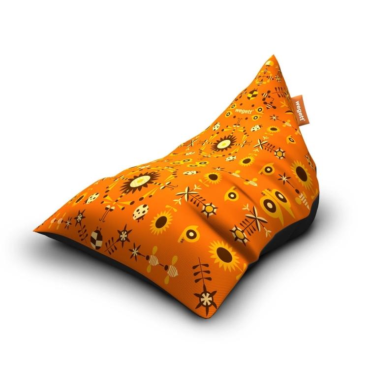 Sedací vak Triangle Garden Orange   Wegett
