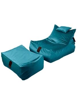 Sedací vak SET Lounge XXL Luxury Blue | Wegett