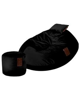 Sedací vak SET Cocoon XXL Luxury Black | Wegett