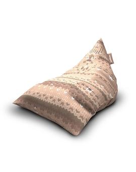 Sedací vak Triangle Sweater Sand | Wegett