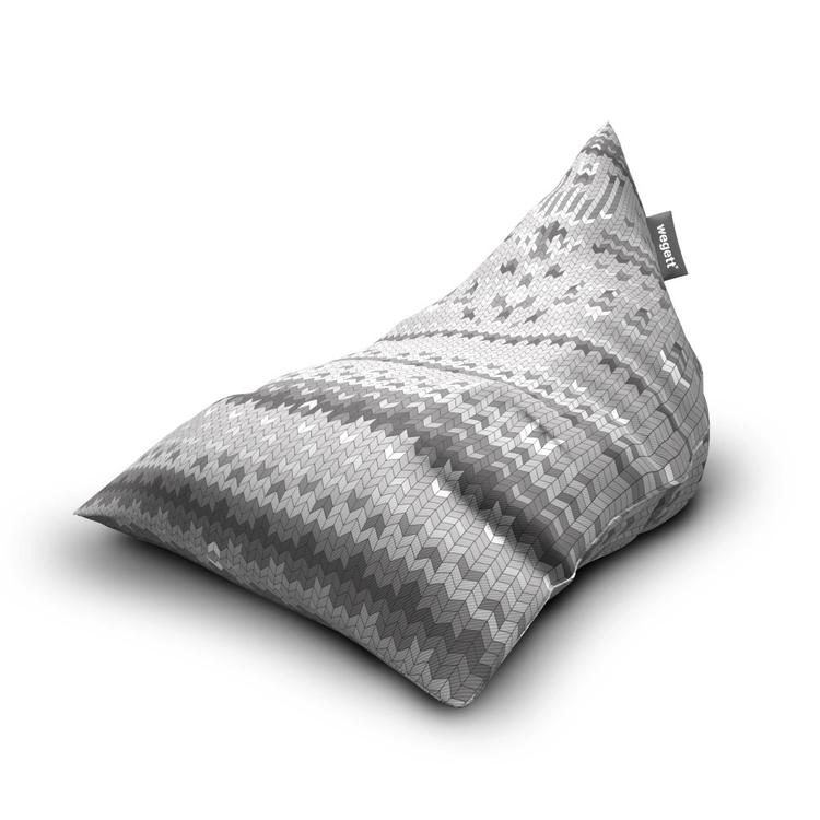 Sedací vak Triangle Sweater Grey | Wegett