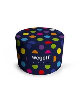 Sedací vak Taburet Minimal Bubble Blue | Wegett