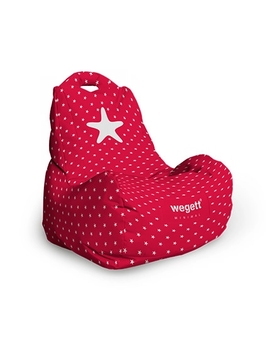 Sedací vak Classic Minimal Star Red | Wegett