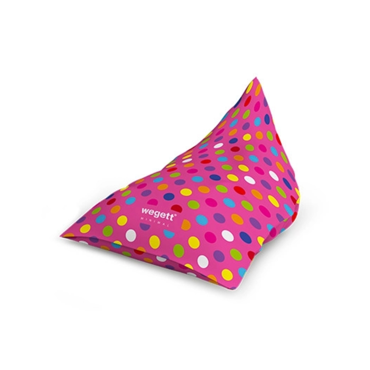 Sedací vak Triangle Minimal Bubble Pink | Wegett
