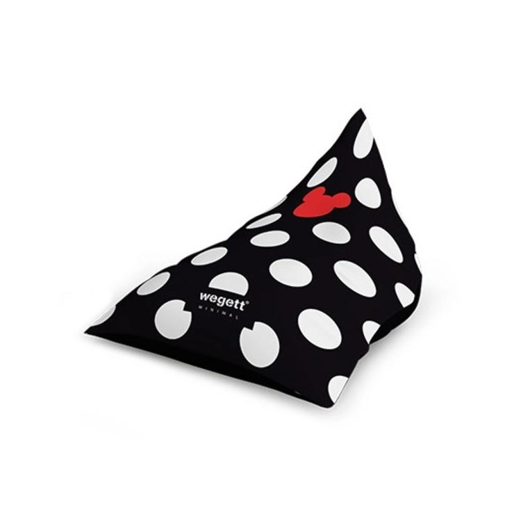 Sedací vak Triangle Minimal MM Black | Wegett