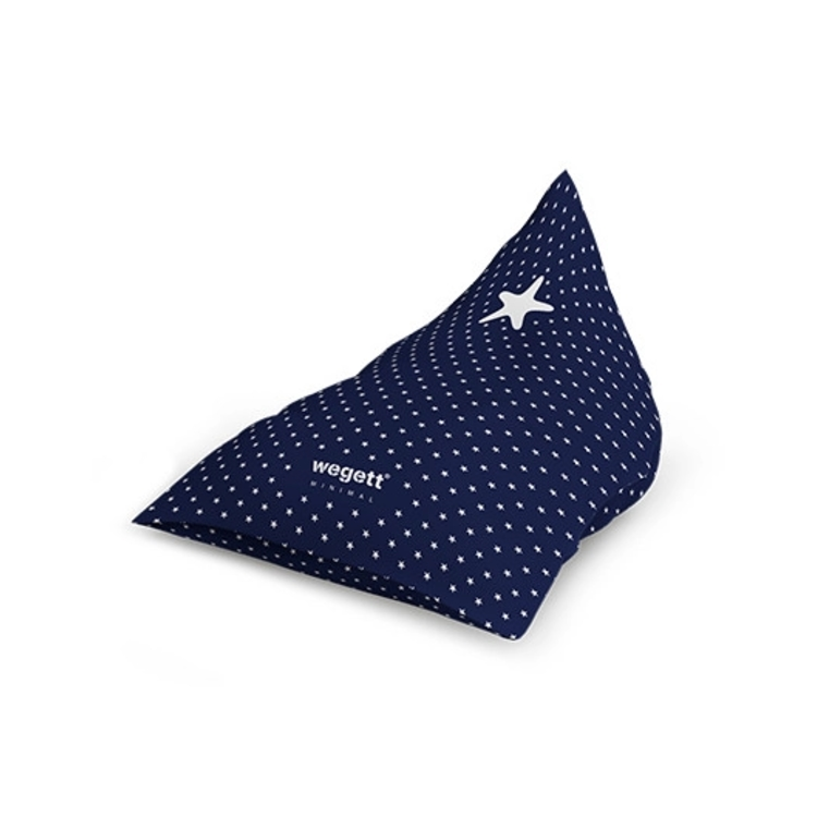 Sedací vak Triangle Minimal Star Blue   Wegett