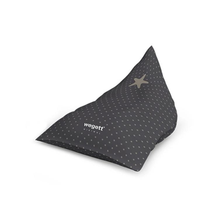 Sedací vak Triangle Minimal Star Grey | Wegett