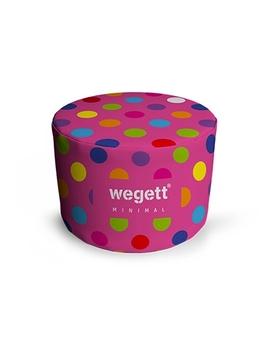 Sedací vak Taburet Minimal Bubble Pink | Wegett