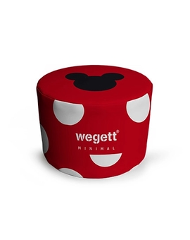 Sedací vak Taburet Minimal MM Red | Wegett