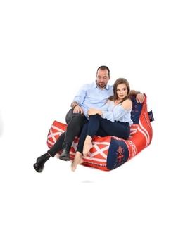 Sedací vak Lounge XXL Šedomodrá | Wegett