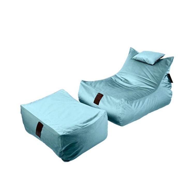 Sedací vak SET Lounge XXL Luxury Light Blue   Wegett