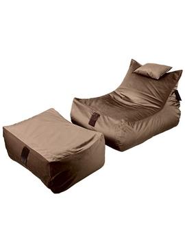 Sedací vak SET Lounge XXL Luxury Brown | Wegett