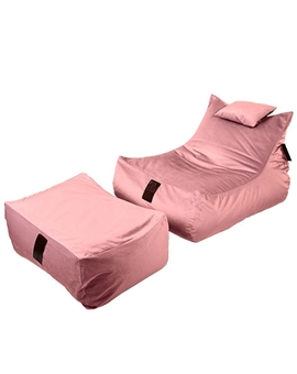 Sedací vak SET Lounge XXL Luxury Old Pink | Wegett