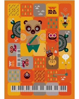 Sedací vak Triangle Band Orange | Wegett