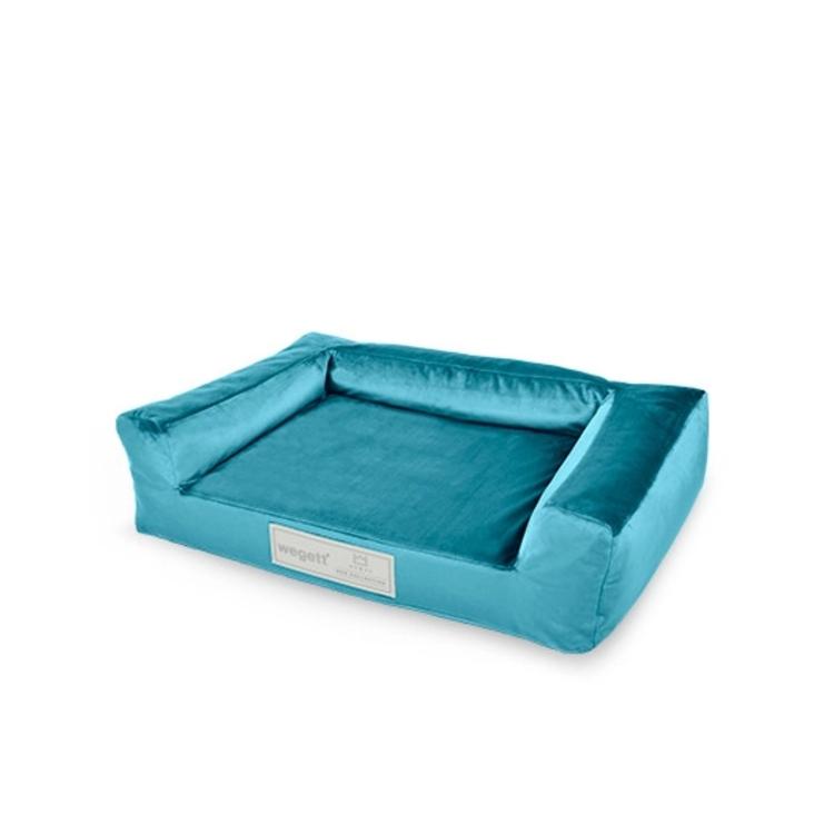 Hundebett Luxury Blue