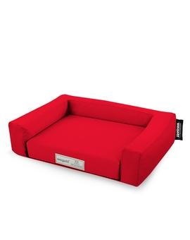 Psí pelíšek Jednobarevný Červená