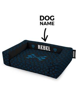 Psí pelíšek potisk Rebel Blue