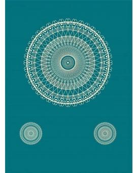 Sedací vak Triangle Lace Turquoise | Wegett