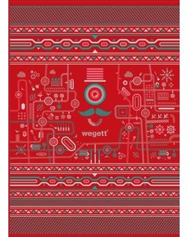 Sedací vak Triangle Urban Red | Wegett