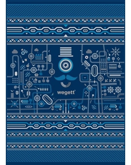 Sedací vak Triangle Urban Blue | Wegett