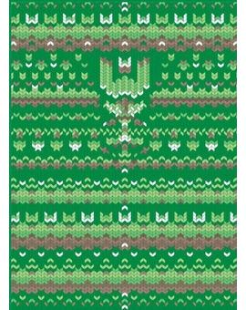 Sedací vak Triangle Sweater Green | Wegett