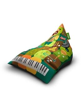 Sedací vak Triangle Band Green | Wegett