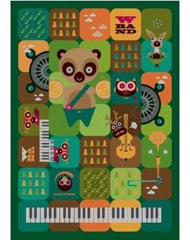 Sedací vak Simple Band Green | Wegett