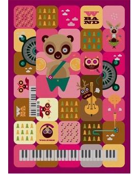 Sedací vak Simple Band Pink | Wegett
