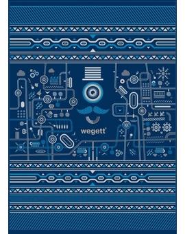 Sedací vak Simple Urban Blue | Wegett